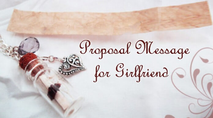 Proposal Message for Girlfriend