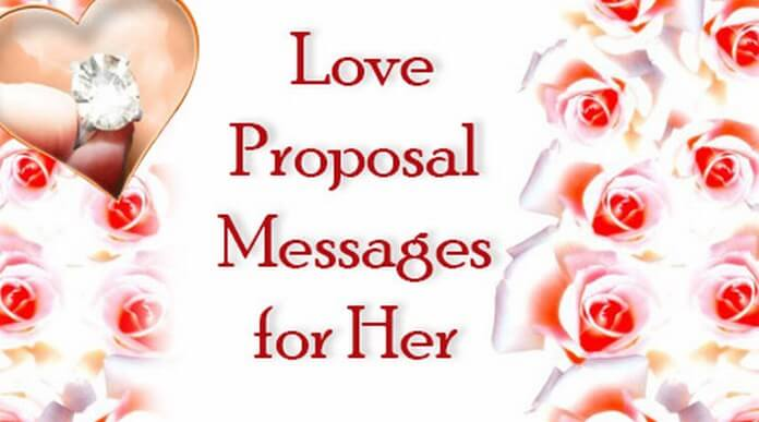 Love Proposal Messages For Her