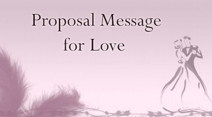 Love Proposal Message