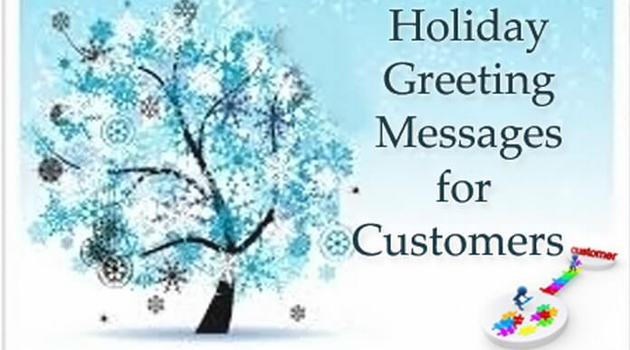 Holiday greeting messages for customer