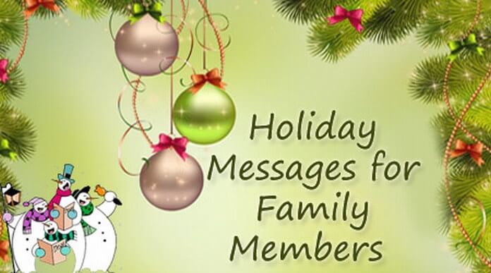 Family Members Holiday Messages