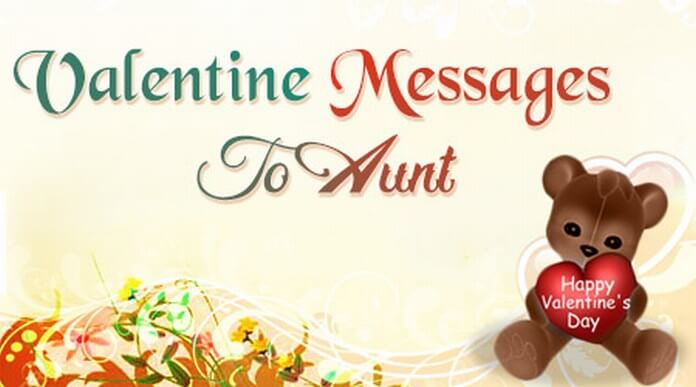 Valentine day Messages to Aunt