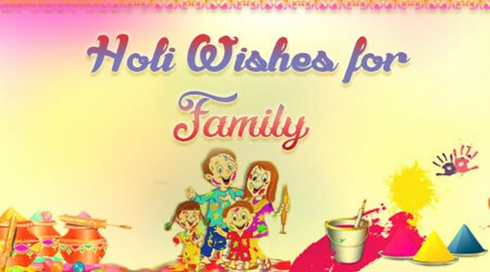 Family Holi Wishes message