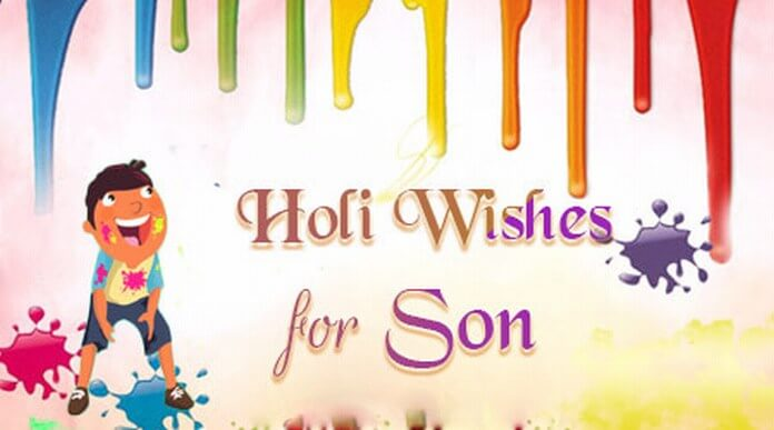 Son Holi Wishes