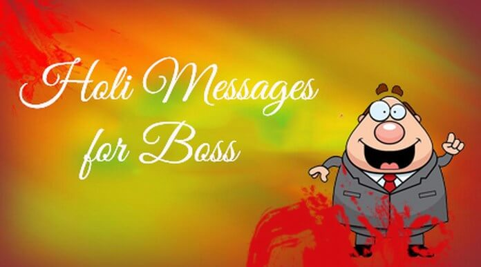 Holi Text Messages for Boss