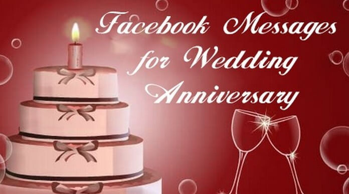 Facebook Messages for Wedding Anniversary