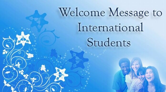 Welcome Message to International Students