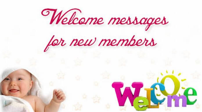 Welcome messages for new members
