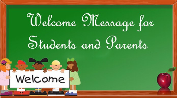 Welcome Message for Students and Parents