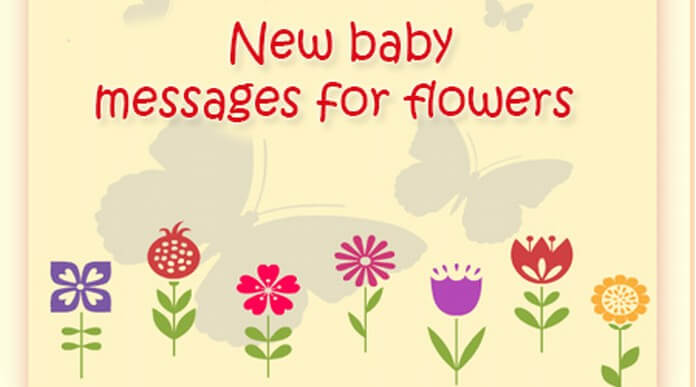 New baby messages for flowers