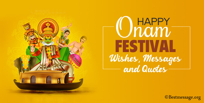 Cute onam festival wishes message