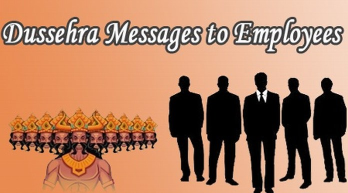 Good Dussehra messages for employees