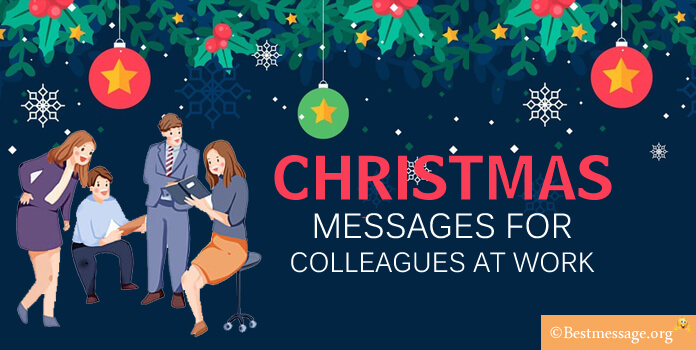 Christmas messages to colleagues at work