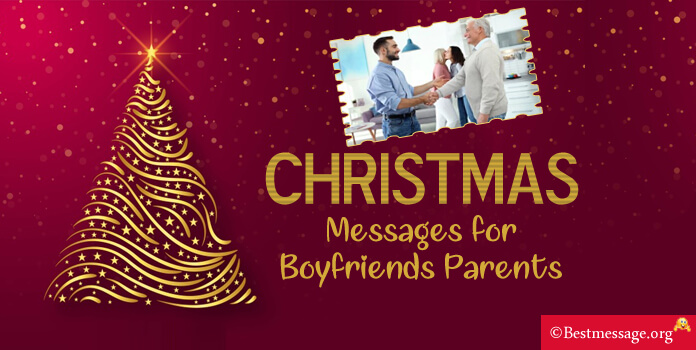 Christmas Messages for Boyfriends Parents