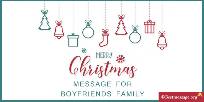 lovely Christmas Message for Boyfriends Family
