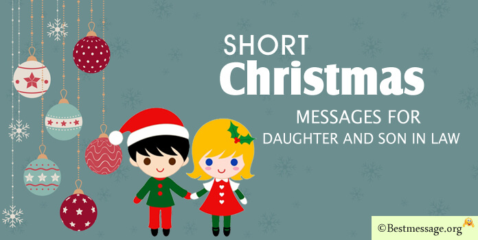 Merry Christmas Messages Daughter and Son in Law