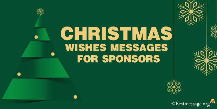 Christmas messages for sponsors