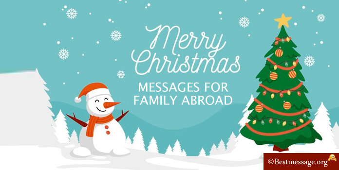 Christmas Messages for Family abroad
