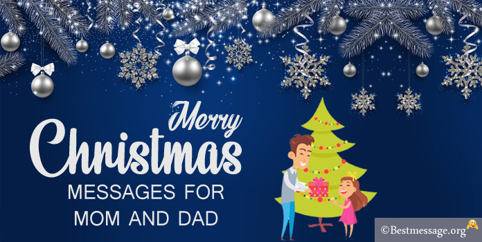 Merry Christmas Messages for Mom and Dad