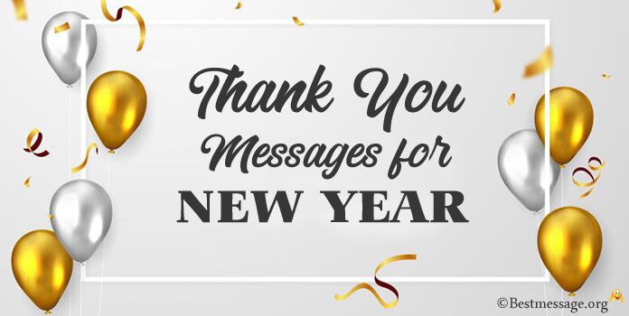 Thank you message for New Year wishes