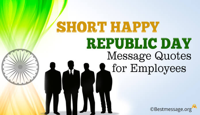 Happy Republic Day Message Quotes for Employees