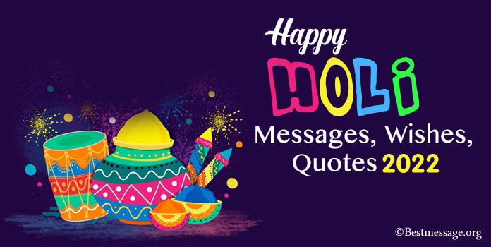 Holi Festival Greetings Messages, Short Happy Holi Quotes & Wishes Images