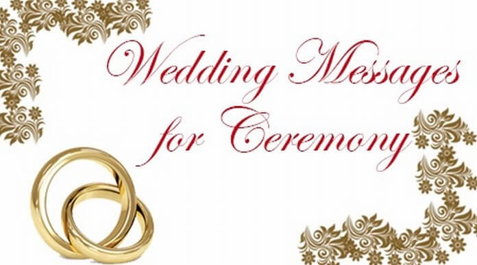 Wedding Messages for Ceremony