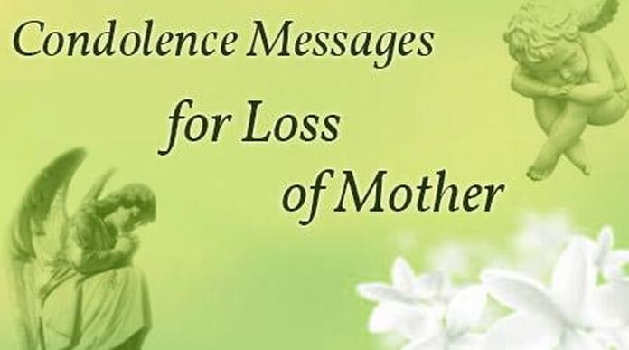 consolation message on death of mother