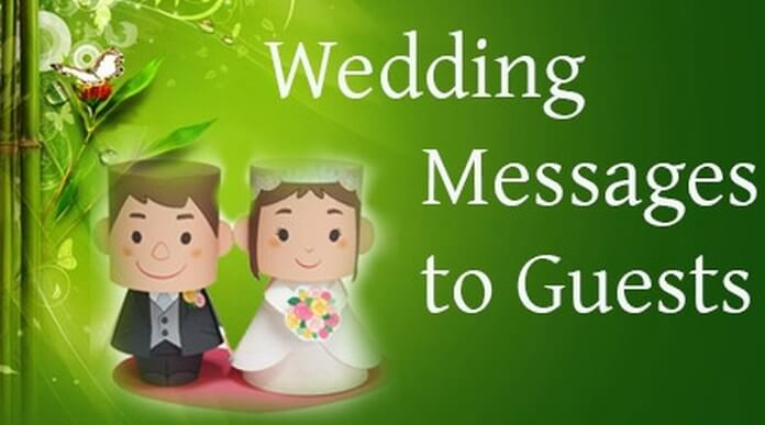 special Wedding Messages to Guests