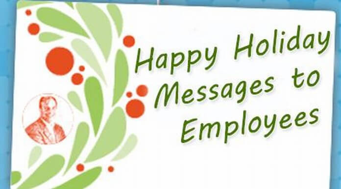 Holiday Messages to Employees