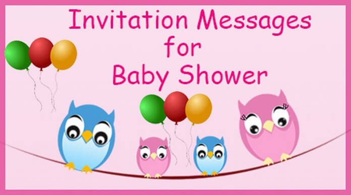 baby shower invitation message