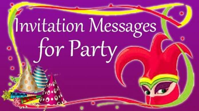 Invitation Messages For Party Wording Sample Example