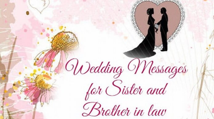 Sister And Brother In Law Wedding Message Jpg