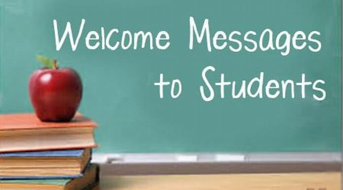 Welcome wishes Messages for Students