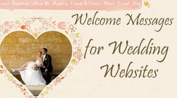 Welcome Messages For Wedding Websites Wedding Website Message Examples