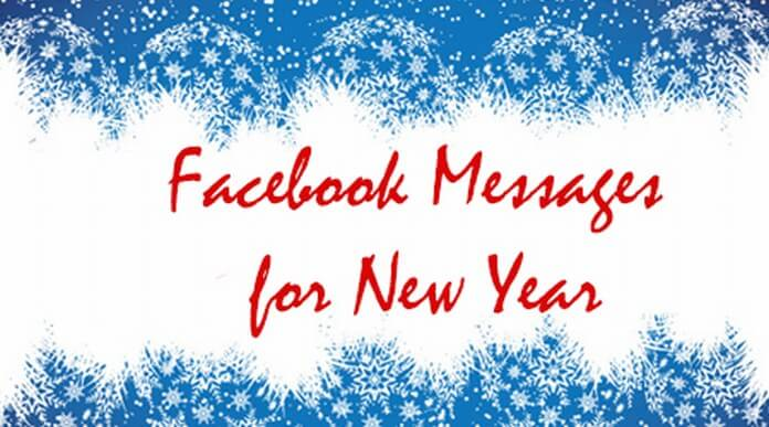 Facebook Messages for happy New Year