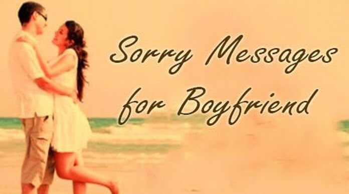 Sorry Love Messages to Boyfriend