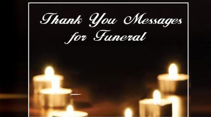 Thank you Messages for Funeral