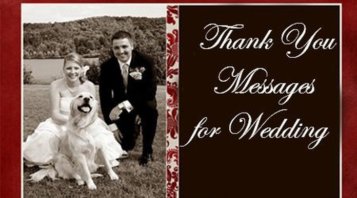 Thank you messages for wedding