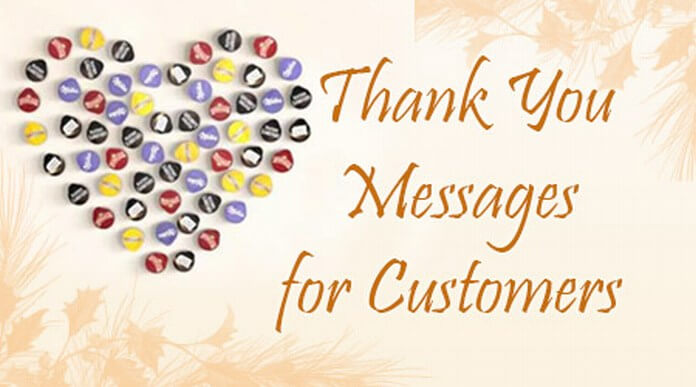 customers thank you messages