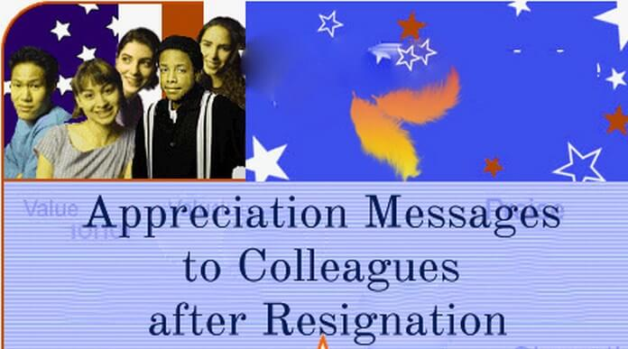 Appreciation Messages to Colleagues after Resignation sample