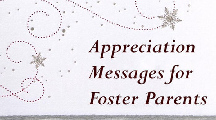 Appreciation Messages for Foster Parents