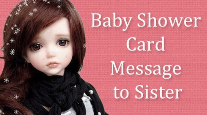 Baby Shower Card Message to Sister