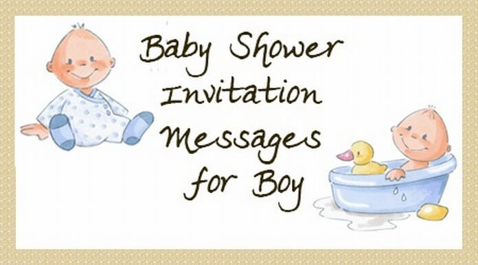 Baby Boy Shower Invitation Messages