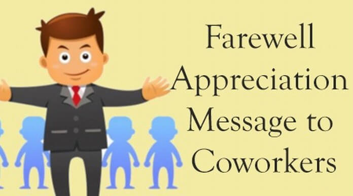 Farewell appreciation messages to co-workers