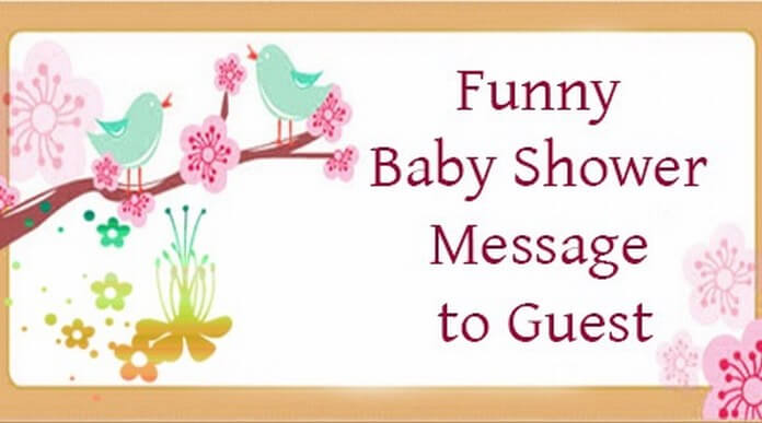 Funny Guest Baby Shower Message