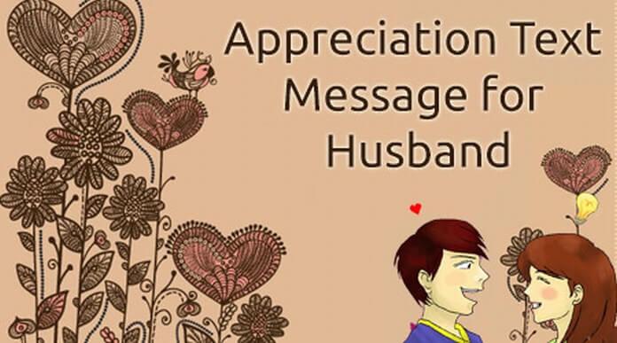 Appreciation Text Messages for Husband