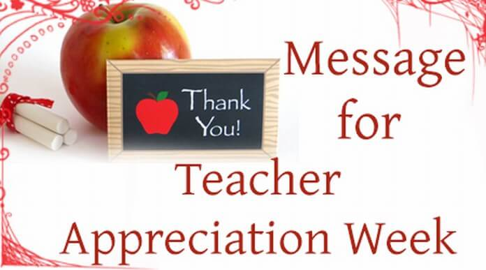 Appreciation Message for Teacher Week