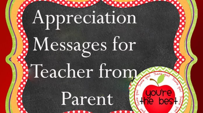 Appreciation Messages for Teacher from Parents