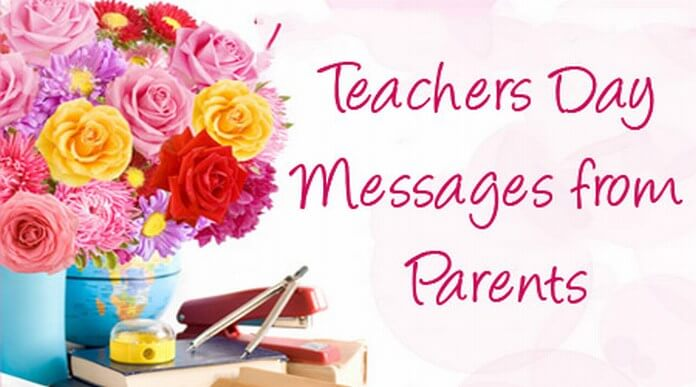 Teacher's day messages from parents
